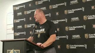 Coach Gerard Gallant on Golden Knights injuries