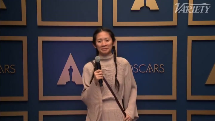 Chloé Zhao On The Oscar Howl Tribute From 'Nomadland'