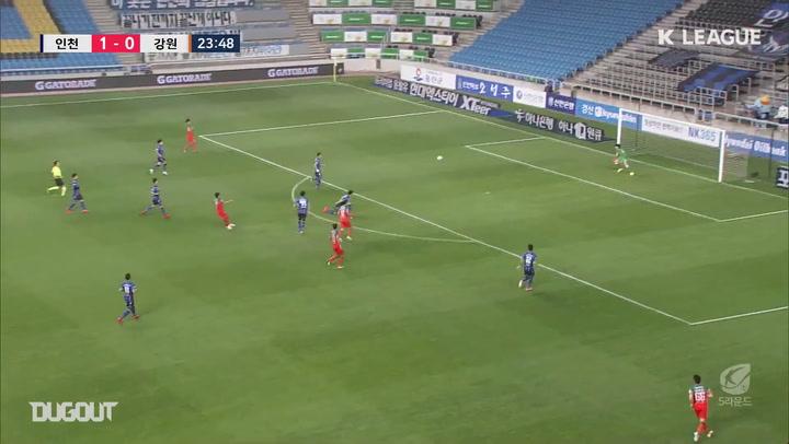 Chae Gwang-hoon fires rocket against Incheon United