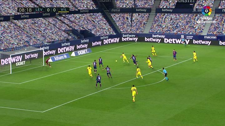 Gol de Postigo (p.p.) (0-1) en el Levante 1-5 Villarreal