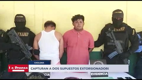 Capturan a dos supuestos extorsionadores en Saba