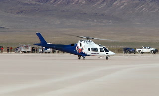 Two people were injured in a rollover crash in a dry lakebed in near Rachel
