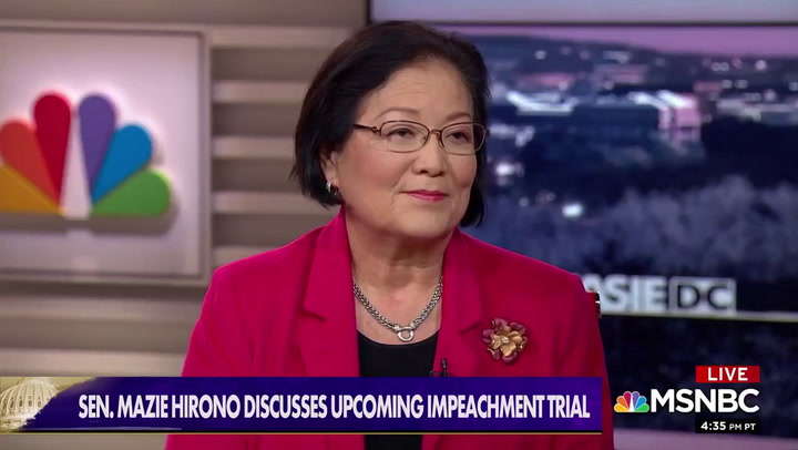 Dem Sen. Hirono: McConnell Wants Senate Trial 'to Basically Be a Whitewash'