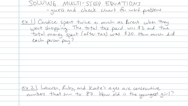 Solving Multi-step Equations - Problem 7