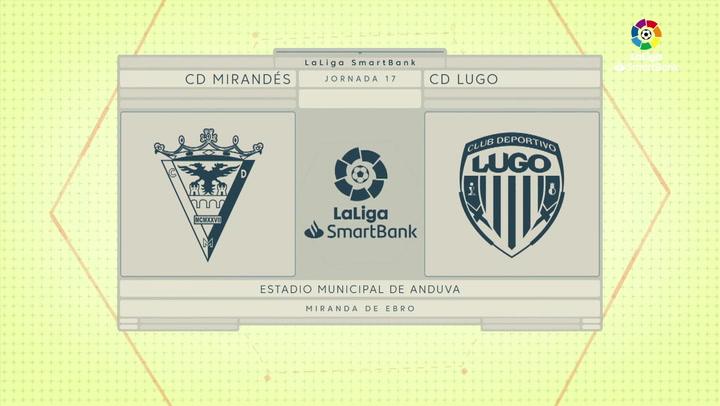 LaLiga SmartBank (J17): Mirandés 0-0 Lugo
