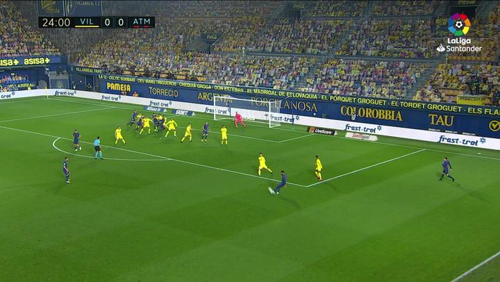 Gol de Pedraza, p.p (0-1) en el Villarreal 0-2 Atlético de Madrid