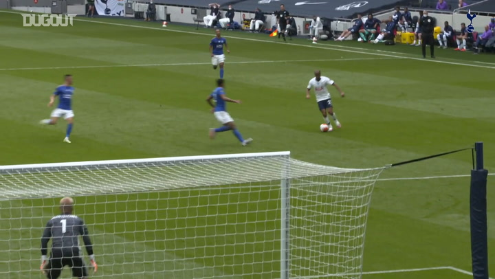 Pitchside view: Harry Kane's two goals vs Leicester