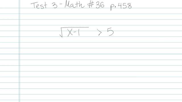 Test 3 - Math - Question 36
