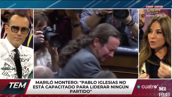 Mariló Montero critica la insignia antifascista de Pablo Iglesias