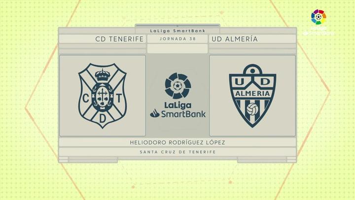 LaLiga Smartbank (Jornada 38): Tenerife 0-1 Almería