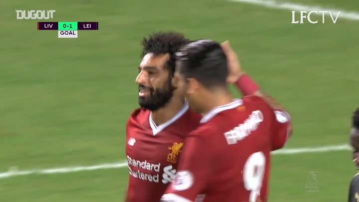 Mohamed Salah levels for Liverpool against Leicester City