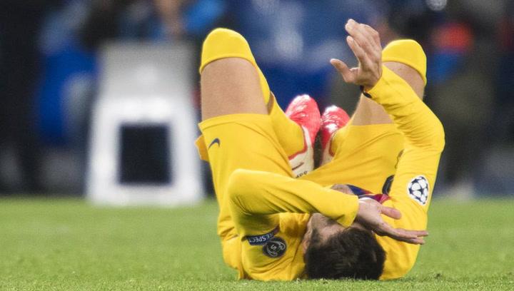 Champions League Nápoles-Barça. Lesión de Gerard Piqué