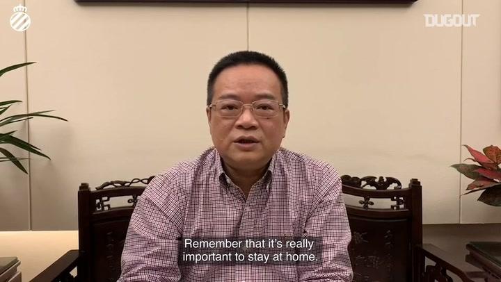 Chen Yansheng updates RCD Espanyol fans on COVID-19