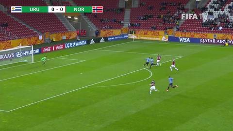 Uruguay debutó en el Mundial Sub 20 venciendo 3-1 a Noruega