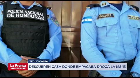 Descubren casa donde empacaba droga la MS-13 en Tegucigalpa