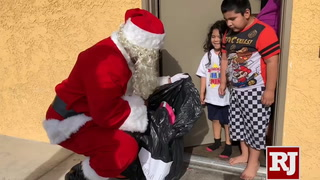 'Siegel Cares' Santa delivers toys to kids at Siegel Suites in Las Vegas