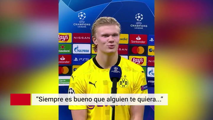 Haaland se deja querer por el Real Madrid
