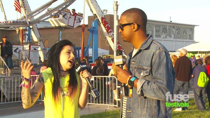 Festivals:Bamboozle: Kreayshawn at Bamboozle 2012