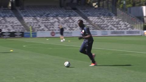 Usain Bolt se entrenó por primera vez en Australia