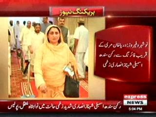 رکن سندھ اسمبلی شہنازانصاری بھتیجے کی فائرنگ سے جاں بحق