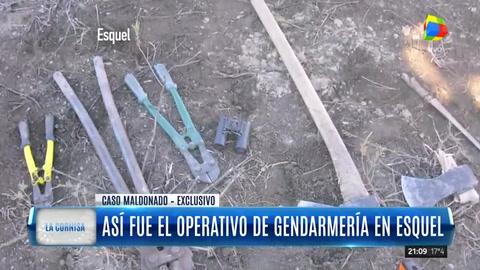 Paso a paso, cómo fue el operativo de Gendarmería en Esquel el último día que se vio a Maldonado