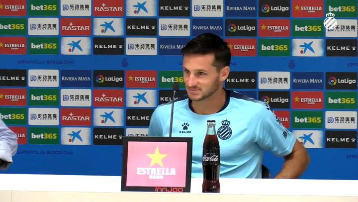 La rueda de prensa de Pablo Piatti (Espanyol)