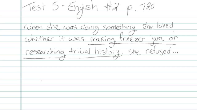 Test 5 - English - Question 2
