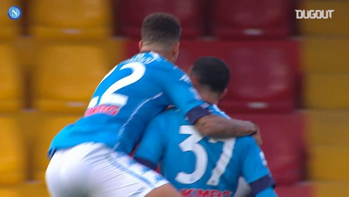Napoli's best goals against Benevento