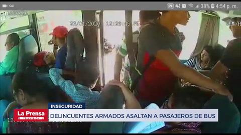 Delincuentes armados asaltan a pasajeros de bus que conduce de Choluteca a Tegucigalpa
