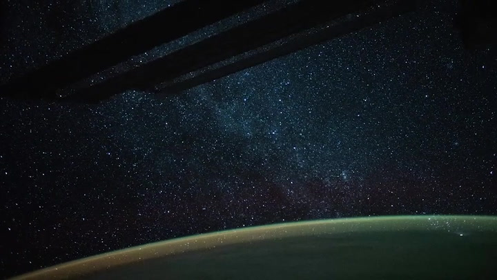 See the Milky Way and Earth Glow From Space Station