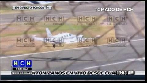 Avioneta aterriza de emergencia en aeropuerto Toncontín