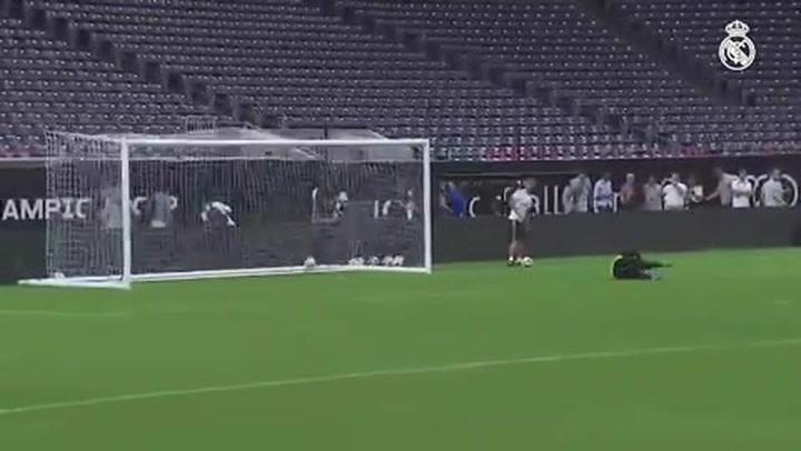 Bale se reivindica subiendo un vídeo con dos goles que marcó en el entrenamiento del Real Madrid en Houston