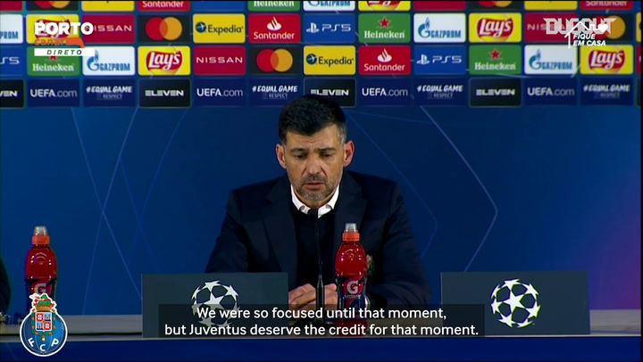 "Sérgio Conceição: ""FC Porto almost reached perfection vs Juventus"""