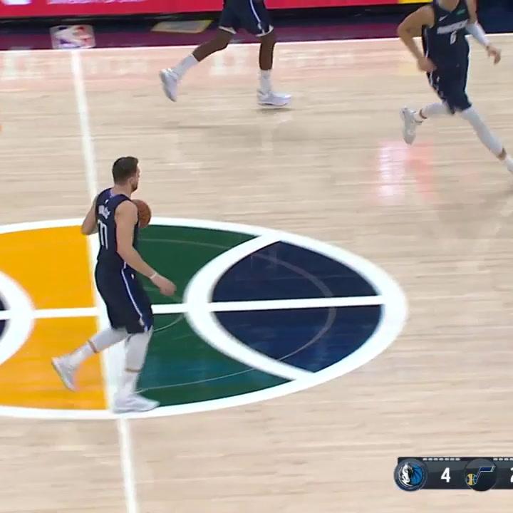 Luka Doncic consiguió 25 puntos contra los Utah Jazz