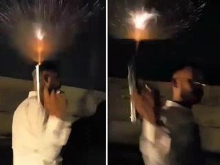 پولیس اہلکار کی سڑک پر کھلے عام ہوائی فائرنگ، ویڈیو وائرل