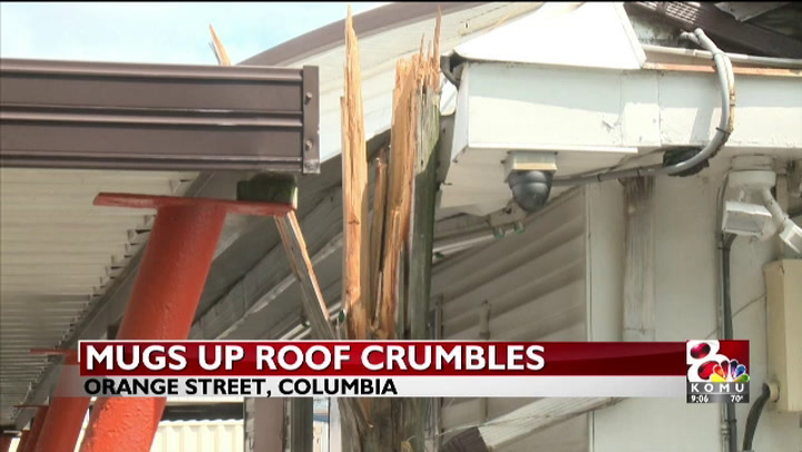 Mugs Up roof collapses after truck accident