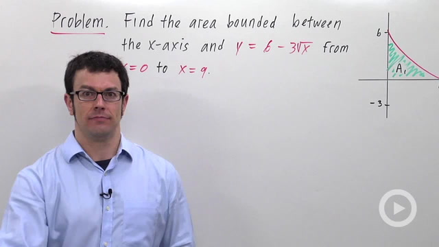 Definite Integrals and Area - Problem 2