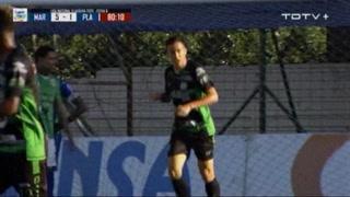 Nicolás Lugli anota el 2 - 5 de Platense ante Marathón