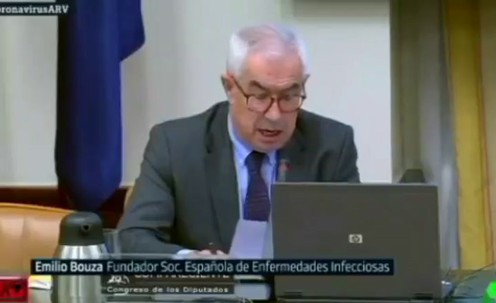 Emilio Bouza confiesa que en un principio no se consideró el coronavirus como muy peligroso