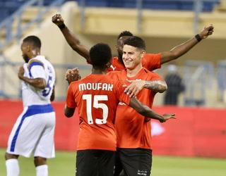 ¡Se estrenó! Así fue el primer gol de James Rodríguez en la Liga de Qatar