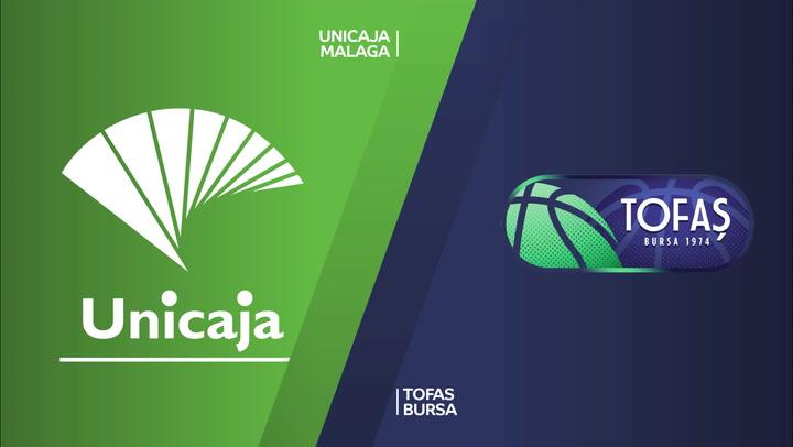 El resumen del Unicaja Málaga - Tofas Bursa (76-68) de EuroCup