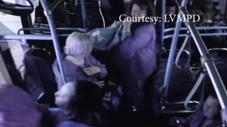 Man pushed off bus in Las Vegas – VIDEO