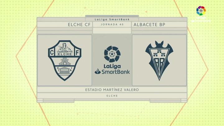 LaLiga SmartBank (J40): Resumen y goles del Elche 2-0 Albacete