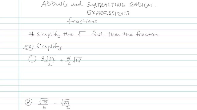 Adding and Subtracting Radical Expressions - Problem 8