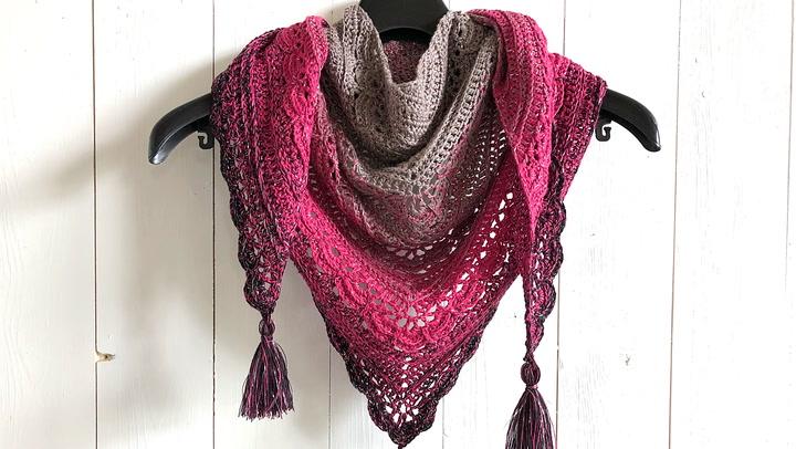 Ana Lucia Shawl Free Crochet Shawl Pattern By Wilmade