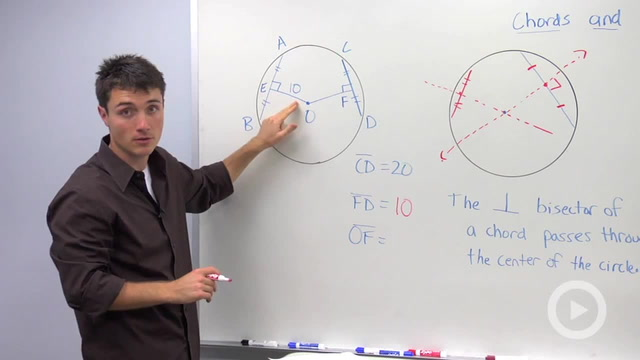 Chords and a Circle's Center - Problem 1