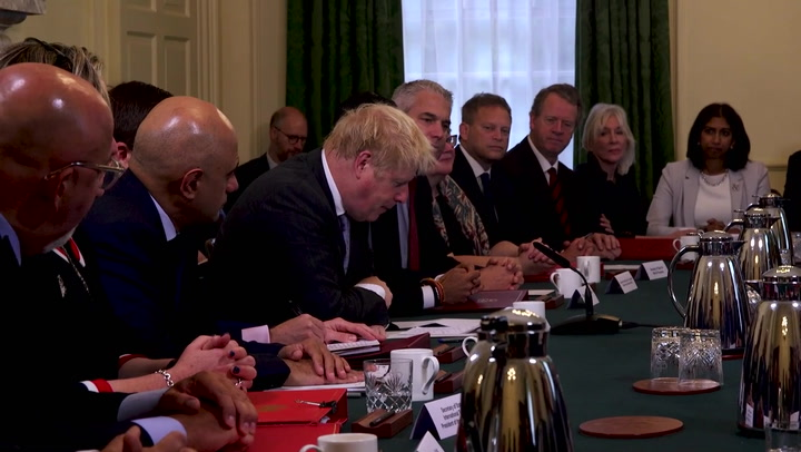 Boris Johnson holds first cabinet meeting after reshuffle