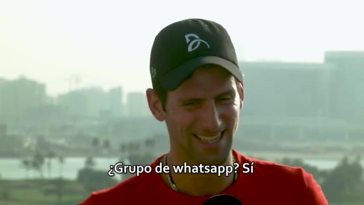 Djokovic explica que tiene un grupo de Whatsapp con Rafa Nadal y Roger Federer