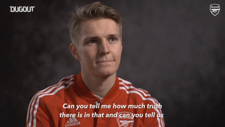 Martin Odegaard's first Arsenal interview after sealing Real Madrid loan