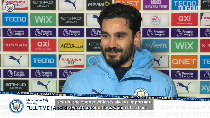 Ilkay Gundogan: 'Three points are important during this period'